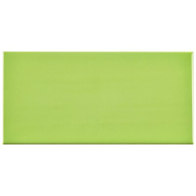 Prospect 3 x 6 Ceramic Subway Tile in Glossy Kiwi Green