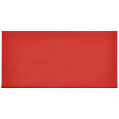 Prospect 3 x 6 Ceramic Subway Tile in Glossy Apple Red