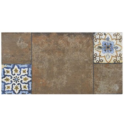 Chanson 11 x 22.13 Porcelain Field Tile in Brown
