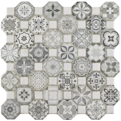 Edredon 12.25 x 12.25 Ceramic Field Tile in Gray