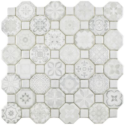 Edredon 12.25 x 12.25 Ceramic Field Tile in White