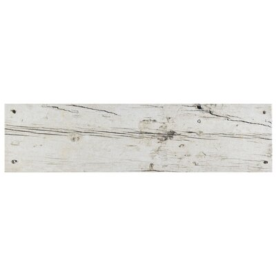 Chalet 5.88 x 23.63 Ceramic Wood Look in White