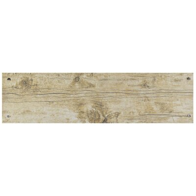Chalet 5.88 x 23.63 Ceramic Wood Look Tile in Beige