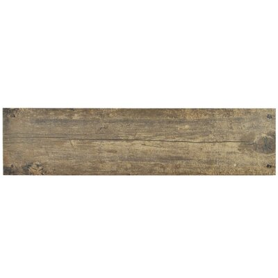 Chalet 5.88 X 23.63 Ceramic Wood Look/Field Tile in Brown