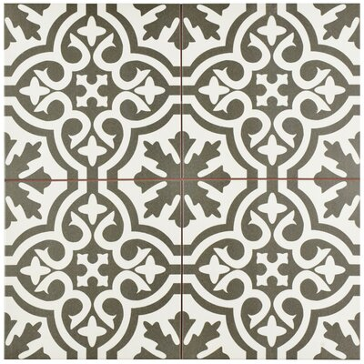 Alameda 17.63 x 17.63 Ceramic Field Tile in Charcoal Grey/Brown/White