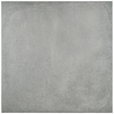 Symbals 14.13 x 14.13 Porcelain Leather Look Tile in Light Gray