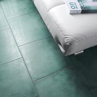 Symbals 14.13 x 14.13 Porcelain Field Tile in Green