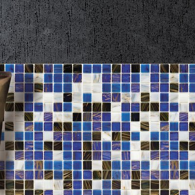 Fused 0.75 x 0.75 Glass Mosaic Tile in Marine