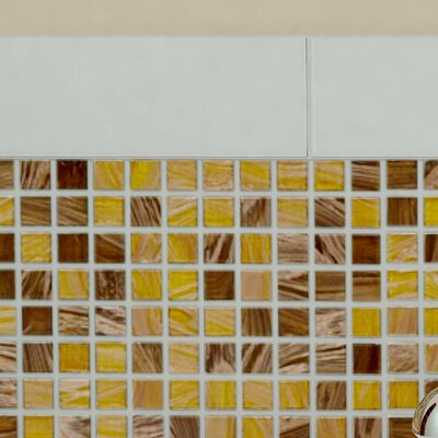 Fused 0.75 x 0.75 Glass Mosaic Tile in Amber