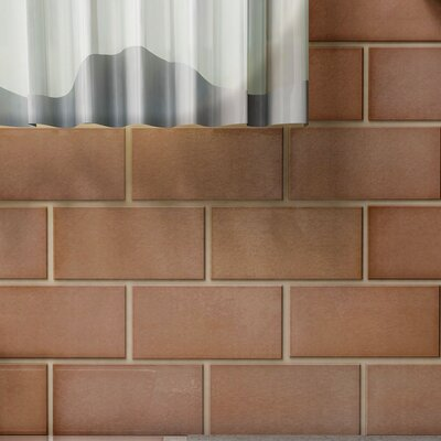 Vulcan 3 x 6 Stainless Steel and Porcelain Subway Tile in Copper
