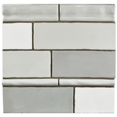 Anchorage 3 x 12 Ceramic Field Tile in Craquele Mix Gray