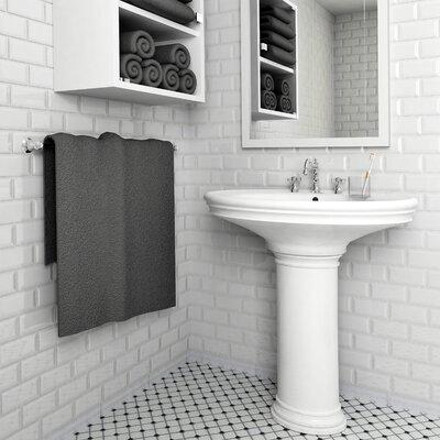 Prospect 3 x 6 Beveled Ceramic Subway Tile in Glossy White