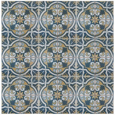 Royalty Canarsie 17.75 x 17.75 Ceramic Field Tile in Blue/Yellow