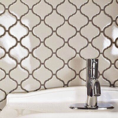Retro Lantern 2.87 x 3.06 Porcelain Mosaic Tile in Glossy Gray