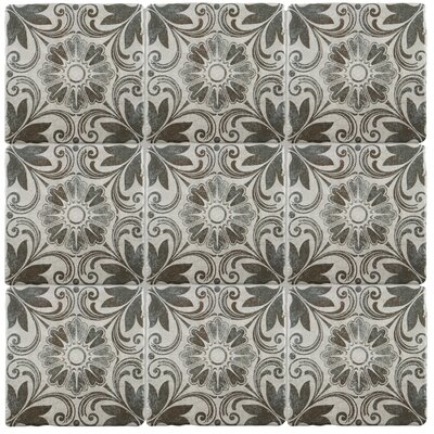 Diego 7.75 x 7.75 Ceramic Field Tile in Matte Gray/Brown