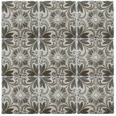 Diego 7.75 x 7.75 Ceramic Field Tile in Matte Gray/Brown