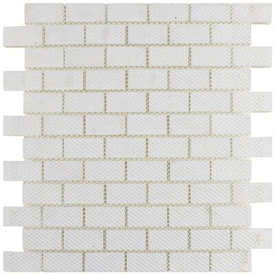 Sierra 0.88 x 1.88 Glass Mosaic Tile in Ice White
