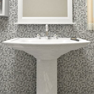 Astraea 0.62 x 0.62 Porcelain Mosaic Tile in Gray/White
