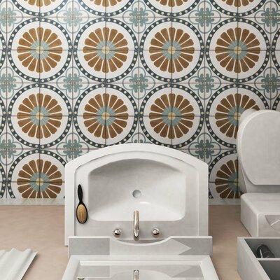 Revive 7.75 x 7.75 Ceramic Field Tile in Blue/Brown
