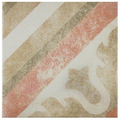 Bartolo 9.5 x 9.5 Porcelain Field Tile in Green/Red