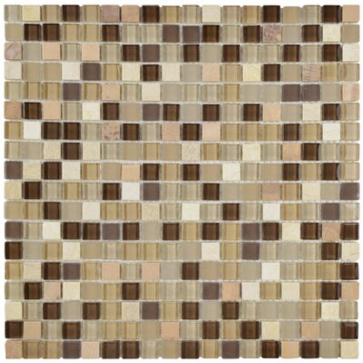 Ambit Glass/Natural Stone Mosaic Tile in Crest