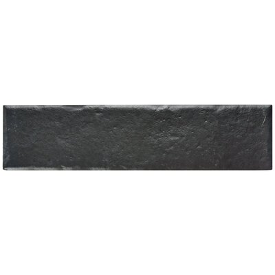 Williamsburg 2.38 x 9.5 Porcelain Field Tile in Black