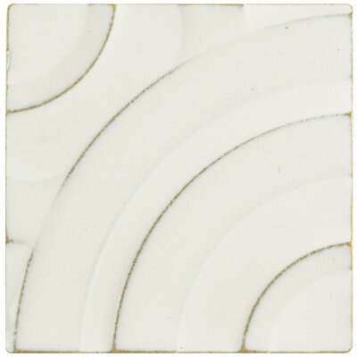 Rene 3.88 x 3.88 Porcelain Field Wall Tile in White
