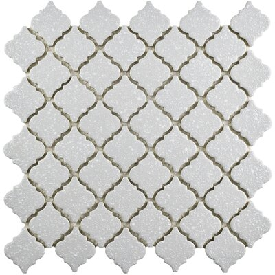 Pharsalia Minerva 12.38 x 12.5 Porcelain Mosaic Floor and Wall Tile in Gray
