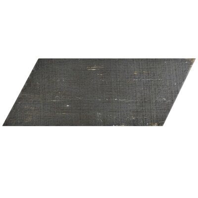 Rama 7.13 x 16.68 Porcelain Wood Look Tile in Negre
