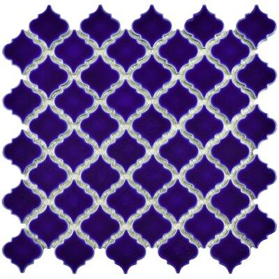 Pharsalia 12.38 x 12.5 Porcelain Mosaic Floor and Wall Tile in Cobalt Blue