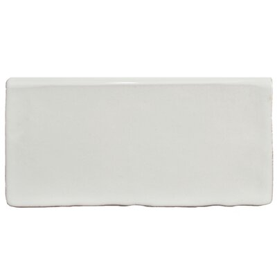 Antiqua 2.88 x 5.88 Bullnose Trim Tile in Special Milk