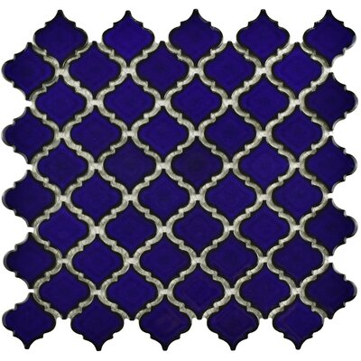 Pharsalia 12.38 x 12.5 Porcelain Mosaic Floor and Wall Tile in Blue Eye