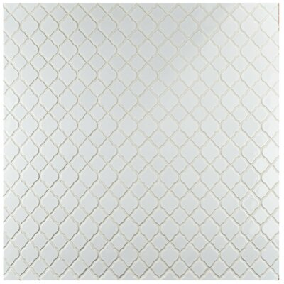 Goulette 10.5 x 10.5 Ceramic Mosaic Floor and Wall Tile in Glossy White