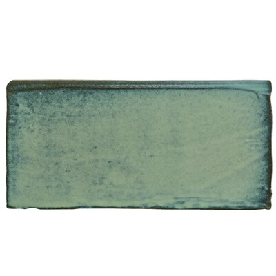 Antiqua 2.88 x 5.88 Bullnose Trim Tile in Special Lava Verde
