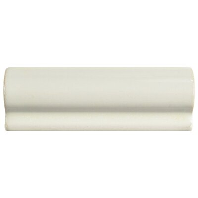 Essentia 2.13 x 5.88 Chair Rail Trim Tile in Ivory Bone
