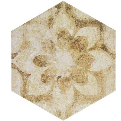 Roche 8.63 x 9.88 Porcelain Field Tile in Brown