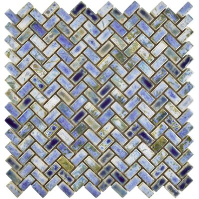 Arcadia 11.63 x 11.63 Porcelain Mosaic Floor and Wall Tile in Neptune Blue