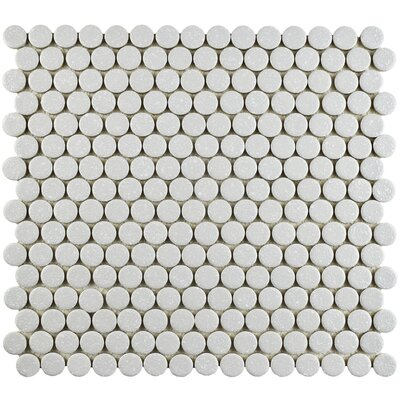 Penny Minerva 12 x 12.63 Porcelain Mosaic Floor and Wall Tile in Gray