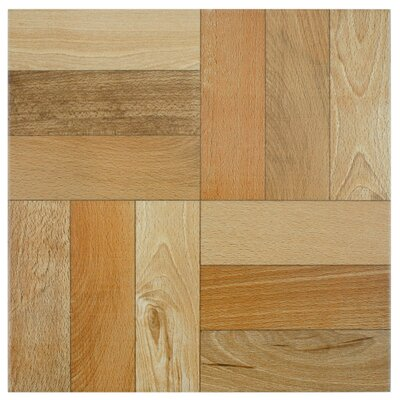 Cobi 12.5 x 12.5 Ceramic Wood Tile in Cerezo