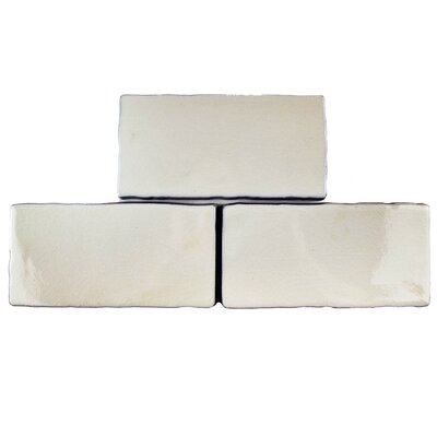 Antiqua 3 x 6 Ceramic Subway Tile in Craquelle White