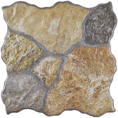 Uplands 12.25 x 12.25 Porcelain Field Tile in Brown/Gray