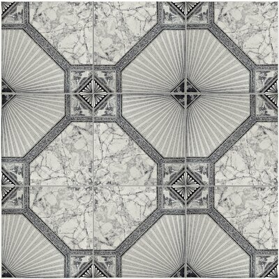 Stellaire 12.5 x 12.5 Ceramic Field Tile in White/Gray
