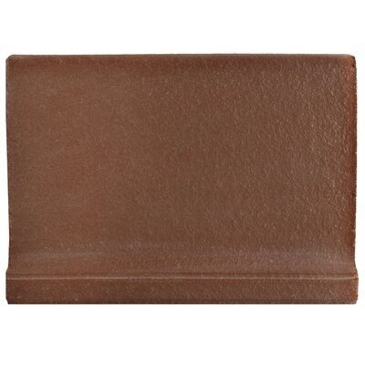 Shale 5.88 x 4.375 Cove Base Tile Trim in Flame Red