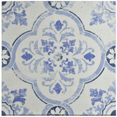 Shale 12.75 x 12.75 Ceramic Field Tile in White/Blue