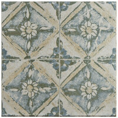 Shale 12.75 x 12.75 Ceramic Field Tile in Teal/Beige
