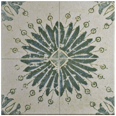 Shale 12.75 X 12.75 Ceramic Field Tile in Textured Green/Blue