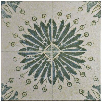 Shale 12.75 x 12.75 Ceramic Field Tile in Teal/Beige