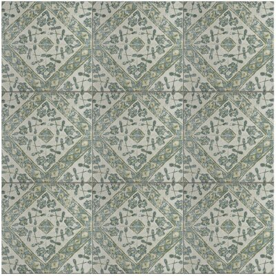 Shale 12.75 x 12.75 Ceramic Field Tile in Teal/Gray
