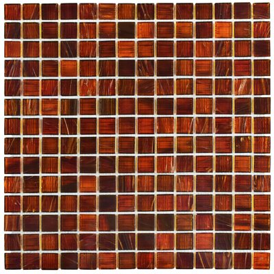 Fused 0.75 X 0.75 Glass Mosaic Tile in Red