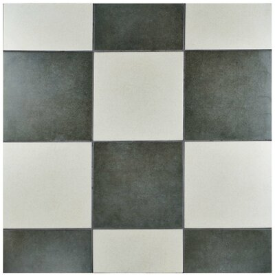 Annata 9.75 x 9.75 Porcelain Field Tile in Marengo
